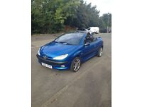 Peugeot 206cc 4 seater convertible for sale repairs required read full description