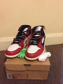 "Nike x Off White Jordan 1 ""The Ten"" Virgil Abloh Size 7.5 UK"