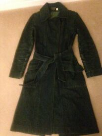 Ladies Green Denim Coat