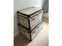 Vintage Shabby Chic Style Chests x 2