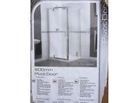 AQUALUX 900mm Pivot Shower Door/Screen (Aquagleam SHINE Collection)
