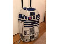 R2D2 Star Wars luggage wheeled case with sounds/ lights Disney store