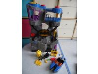 Imaginext Batman Batcave with Lights Motorcycle Missile Boat & Accessories - Bargain £20