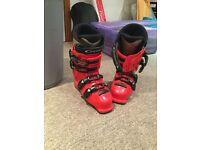 Salomon ski boot mondo 25 size 6 red black