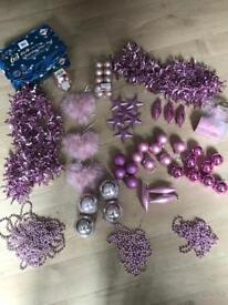 Pink Christmas tree bundle