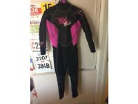 Ladies Blue Rush wetsuit (Small)