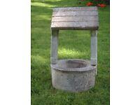 Vintage Cast Stone Wishing Well Garden Planter Garden Pot Garden Ornament