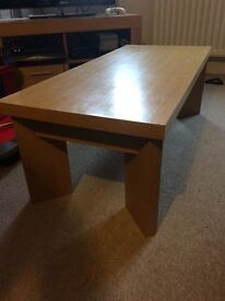 Low oak effect coffee table