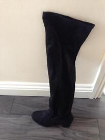 Brand new black high knee ladies boots
