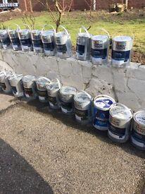 Brand new paint tins