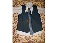 3 in 1 Waistcoat Tie And Shirt from next