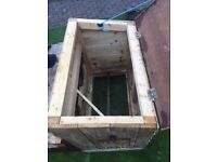 hand made wooden chicken house, perfect condition