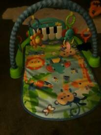 Fisher price baby activity gym with kickboard piano