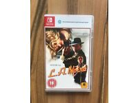 L.A. Noire (Nintendo Switch) , as new , just a few days old ! price stands , no offers ! MAY SWAP