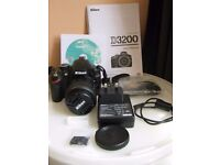Nikon D3200 with AFS DX VR II 18-55mm Lens - 324 Shutter Count