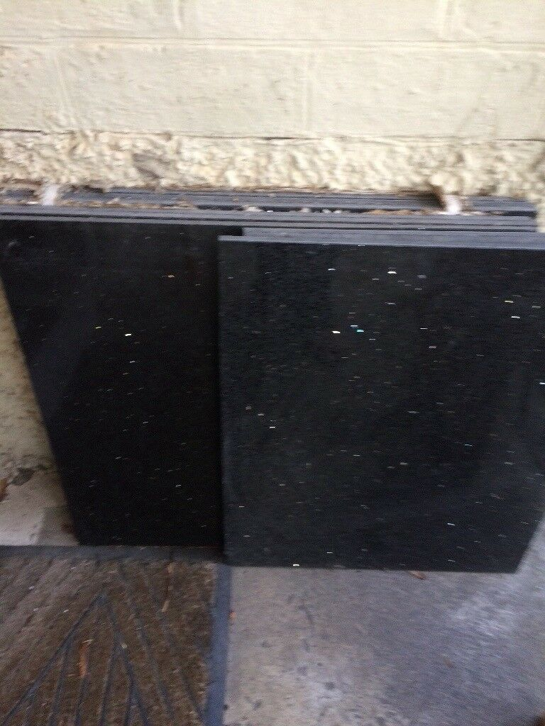 Black Granite Sparkle Galaxy Tiles 60cm X60cm Each Tile 6 Full Tiles