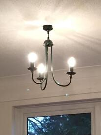 Two light fittings and matching uplighters