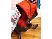 BRITAX B-Agile Red Travel System Single Seat Stroller