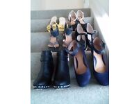 Selection of ladies shoes
