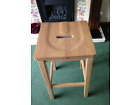 Solid Oak Kitchen Bar Stool 660mm high 330mm square top