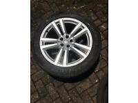 "Genuine 20"" Audi alloys with tyres x4"