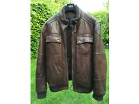 Marks and Spencer Blue Harbour Luxury Leather Jacket
