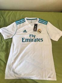 Real Madrid Home Shirt 2017/18 Adidas !NEW!