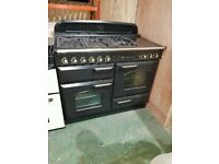 Black RangeMaster Classic A+++ Class 110 cm Gas Range Cooker In Excellent Condition