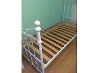 White Iron Single bed