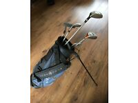 Kids golf clubs and bag - various sizes