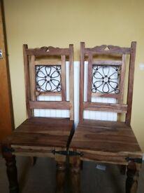 Two handmade chairs