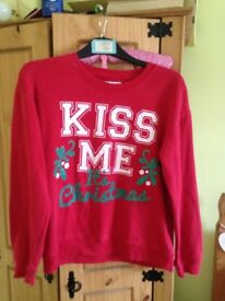 Christmas ladies jumper size 8/10 vgc