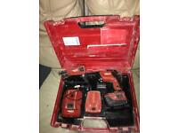 Hilti sd5000 screwgun + smd57 2 batts n charger