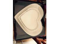 3 x porcelain bowl set