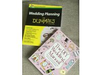 Two wedding planning books