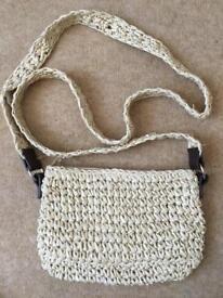 Ladies Topshop straw cross body bag