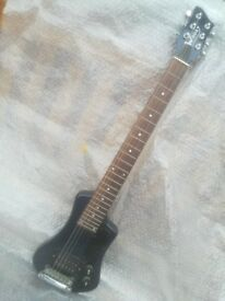WOODY Electric TRAVEL Guitar. NEWTOWNABBEY.