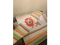 Nursery Cot Bed Set, Quilt, Bumper, Fitted Sheet and Pillowcase – unisex design