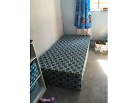 Single divan with pull out bed under