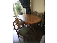 Dining table & chairs, matching Cabinet