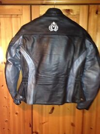 Women's leather biker jacket. AS NEW