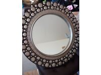 Two designer living room mirrors- round pebble style