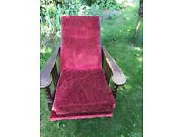Wonderful antique reclining chair