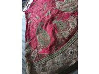 Exquisite wedding lengha, condition as new,by kalaniketan (mumbaiwala).heavy embroidered.