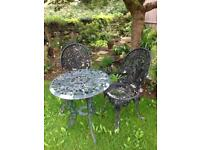 Metal garden table chairs