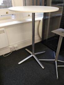 white bar table
