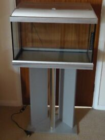Tropical Fish Tank and stand for sale, complete with pump and filter £55
