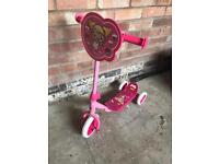 Girls cupcake tri scooter - like new