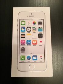 iPhone 5S 16G Silver - Excellent condition, have used glass screen protectors & phone case from new
