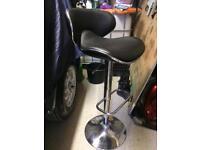Leather breakfast bar chair